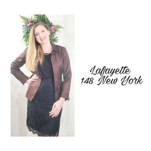 Lafayette New York 148 brown jacket petite4